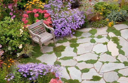 Garden Patio Flagstone Patio And Simple Garden Best 25 Stone