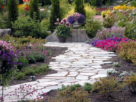 Design walkways and garden paths garden design for living for Garden path designs