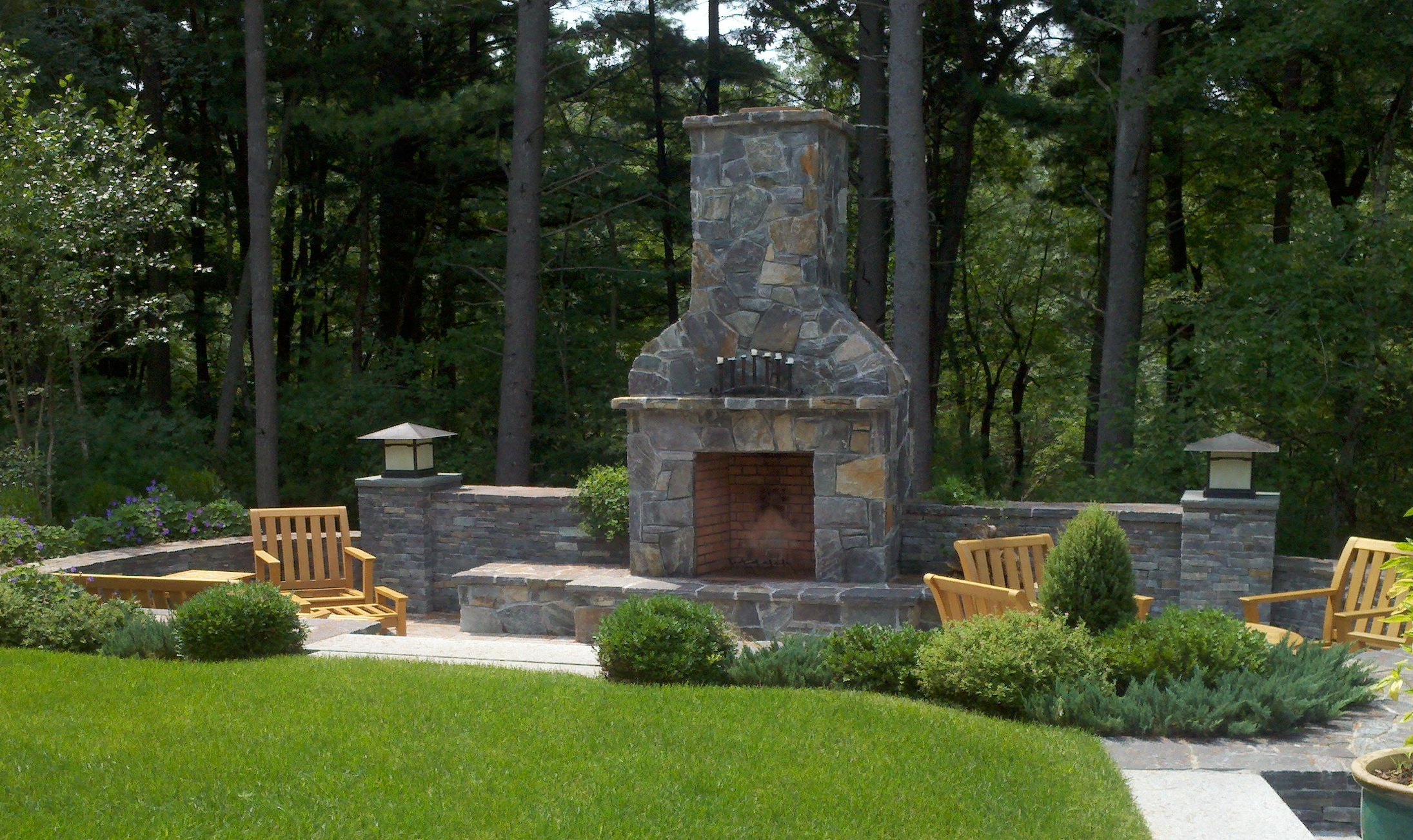 This Large Outdoor Fireplace ...
