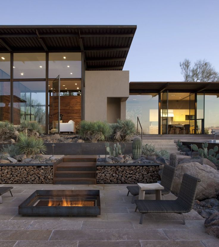 Pictures Of Square Fire Pits In A Backyard :  guide for outdoor firplaces and firepits  Garden Design for Living