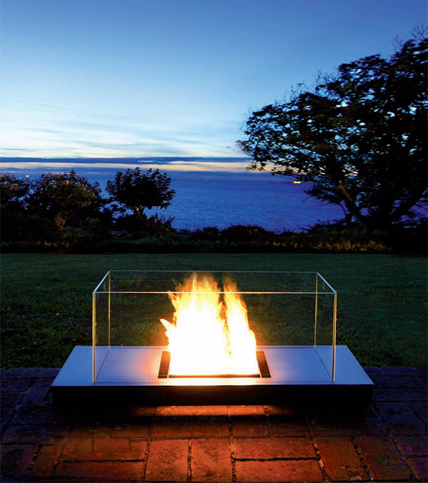 Design guide for outdoor firplaces and firepits garden for Alcohol fire pit
