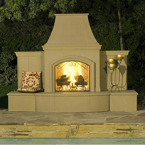 Design guide for outdoor firplaces and firepits garden for Outdoor gas fireplace designs
