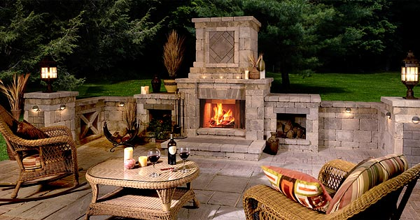 Design guide for outdoor firplaces and firepits garden for Outdoor fireplace plans